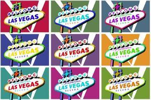 Las Vegas, Nevada - Welcome Sign Pop Art by Lantern Press