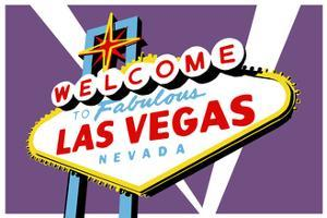 Las Vegas, Nevada - Welcome Sign by Lantern Press