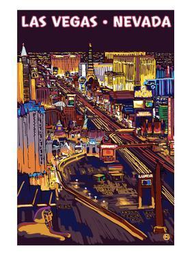 Las Vegas Strip at Night by Lantern Press