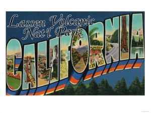 Lassen Volcanic National Park, CA - Large Letter Scenes by Lantern Press