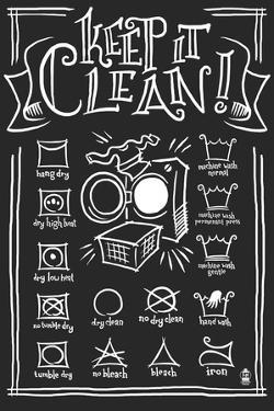 Laundry Symbols (Black) by Lantern Press