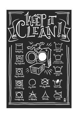 Laundry Symbols (Black) by Lantern Press
