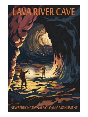 Lava River Cave - Lava Lands, Oregon by Lantern Press