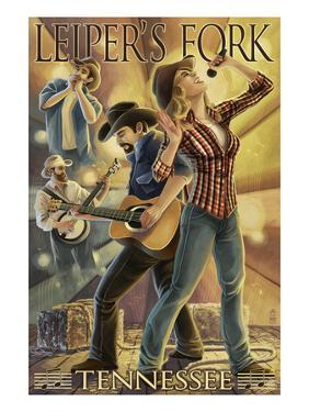 Leiper's Fork, Tennessee - Country Band by Lantern Press