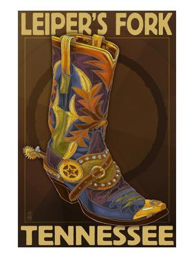 Leiper's Fork, Tennessee - Cowboy Boot by Lantern Press