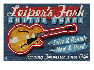 Leiper's Fork, Tennessee - Guitar Shack by Lantern Press