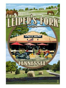 Leiper's Fork, Tennessee - Montage Scenes by Lantern Press