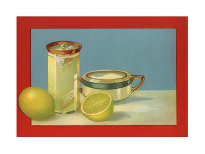 Lemons and Lemonade - Citrus Crate Label by Lantern Press