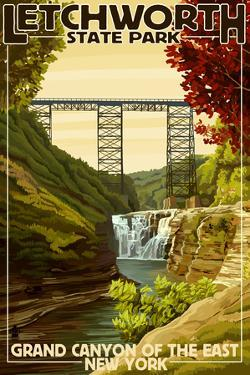 Letchworth State Park, New York - Grand Canyon of the East by Lantern Press