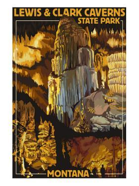 Lewis and Clark Caverns State Park, Montana by Lantern Press
