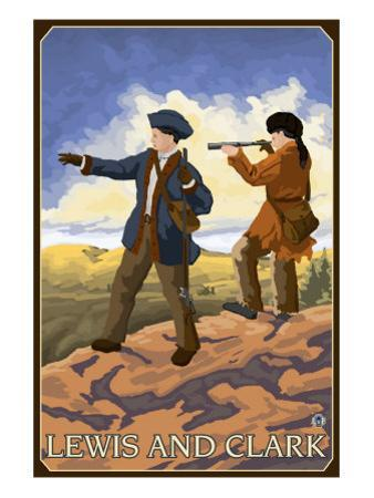 Lewis and Clark Exploring the West by Lantern Press