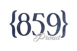 Lexington, Kentucky - 859 Area Code (Blue) by Lantern Press