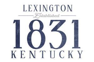 Lexington, Kentucky - Established Date (Blue) by Lantern Press