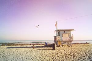 Lifeguard Shack Sunrise by Lantern Press