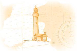 Lighthouse - Yellow - Coastal Icon by Lantern Press