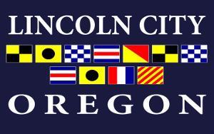 Lincoln City, Oregon - Nautical Flags by Lantern Press