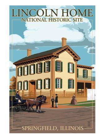 Lincoln Home National Historic Site - Springfield, Illinois by Lantern Press