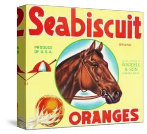 Lindsay, California, Seabiscuit Brand Citrus Label by Lantern Press