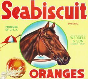 Lindsay, California, Seabiscuit Brand Citrus Label by Lantern Press