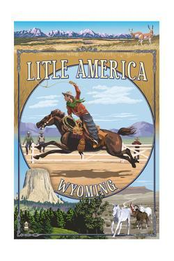 Little America, Wyoming - Montage by Lantern Press