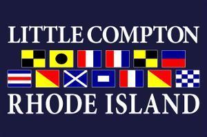 Little Compton, Rhode Island - Nautical Flags by Lantern Press