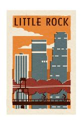 Affordable little rock ar posters for sale at allposters little rock arkansas woodblock by lantern press malvernweather Gallery
