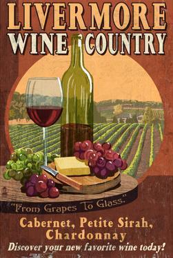 Livermore, California - Wine by Lantern Press