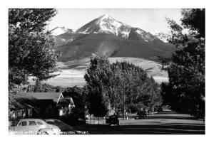 Livingston, Montana - Vista View of Mt Baldy by Lantern Press
