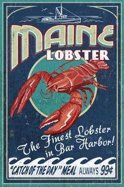 Lobster - Bar Harbor, Maine by Lantern Press
