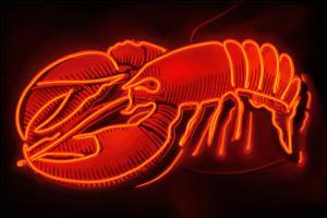 Lobster Neon Sign by Lantern Press