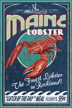 Lobster - Rockland, Maine by Lantern Press
