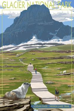 Logan Pass - Glacier National Park, Montana by Lantern Press
