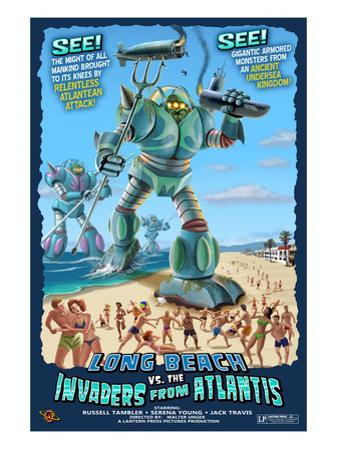 Long Beach, California - Atlantean Invaders by Lantern Press