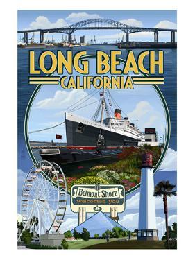 Long Beach, California - Montage by Lantern Press