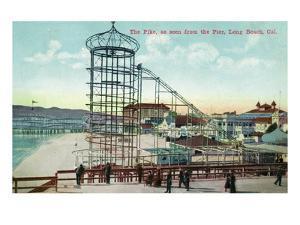 Long Beach, California - Pier View of the Pike by Lantern Press