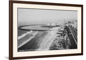 Long Beach, California Rainbow Pier and Ocean Blvd. Photograph - Long Beach, CA by Lantern Press