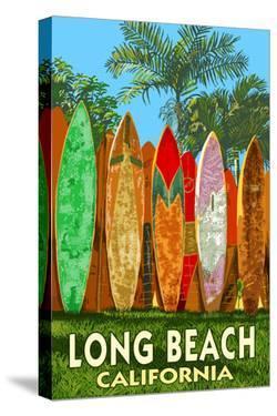 Long Beach, California - Surfboard Fence by Lantern Press