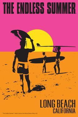 Long Beach, California - The Endless Summer - Original Movie Poster by Lantern Press