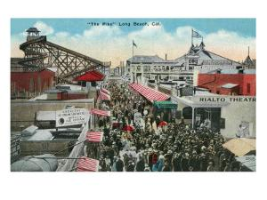 Long Beach, California - View of the Pike by Lantern Press