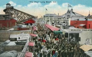 Long Beach, California - View of the Pike by Lantern Press