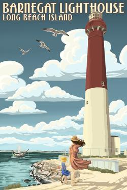 Long Beach Island - Barnegat Lighthouse by Lantern Press