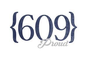 Long Beach Island, New Jersey - 609 Area Code (Blue) by Lantern Press