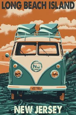 Long Beach Island, New Jersey - VW Van by Lantern Press