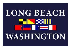 Long Beach, Washington - Nautical Flags by Lantern Press