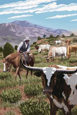 Longhorns by Lantern Press