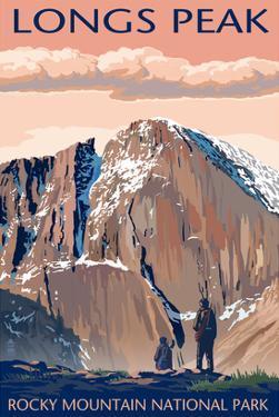 Longs Peak - Rocky Mountain National Park by Lantern Press