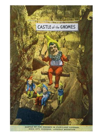 Lookout Mountain, Tennessee - Fairyland Caverns, Interior View of the Castle of Gnomes