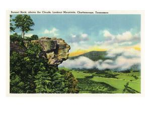Lookout Mountain, Tennessee - Scenic View from Sunset Rock on the Mountain by Lantern Press