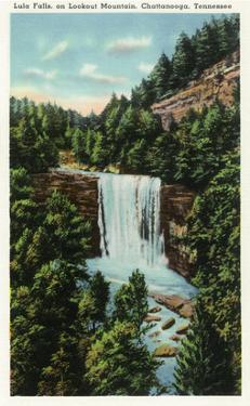 Lookout Mountain, Tennessee - View of Lula Falls by Lantern Press