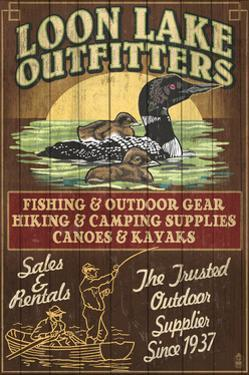 Loon Outfitters - Vintage Sign by Lantern Press